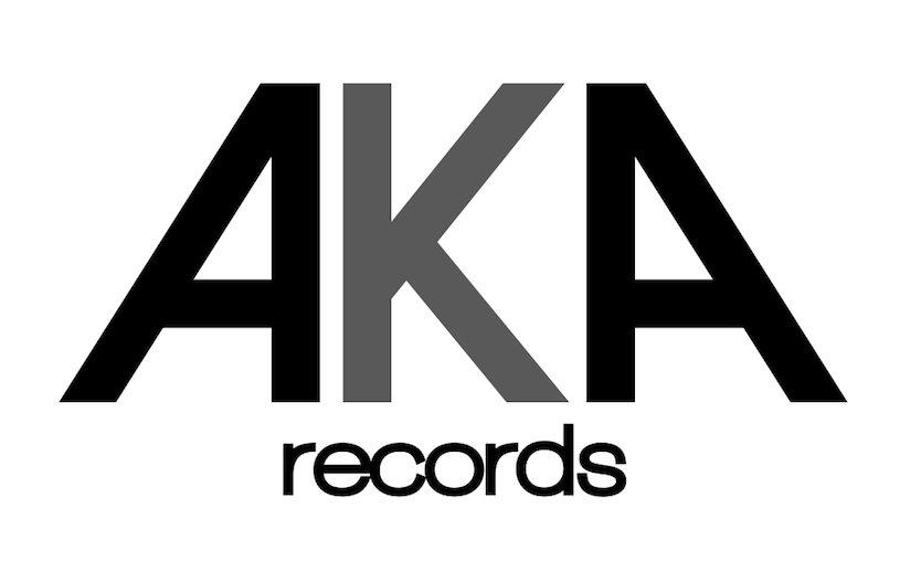 Company wordmark with AKA in large, bold letters. Records underneath it.